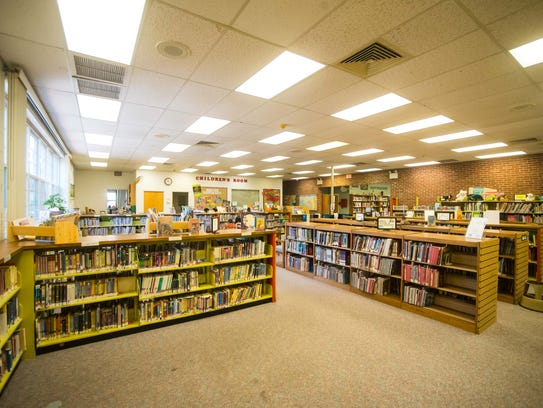 The interiors of the Millville Public Library on Thursday,