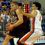 ULM's Nick Coppola (11) scored a team-high 12 points at Appalachian State on Saturday.