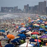 Bring your umbrella if you are going to Myrtle Beach this summer. You won't be able to use a beach tent.