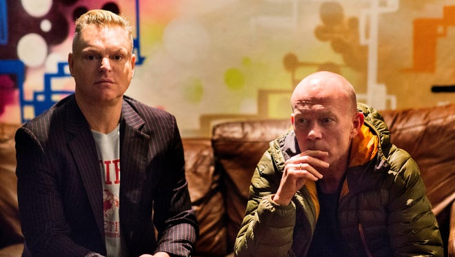 Andy Bell, left, and Vince Clarke of Erasure will release their new album 'The Violet Flame' Sept. 23 on Mute.