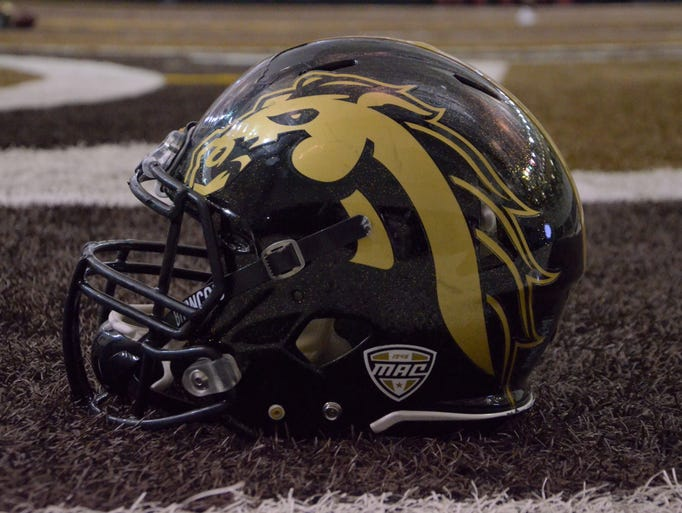 A Western Michigan football helmet.