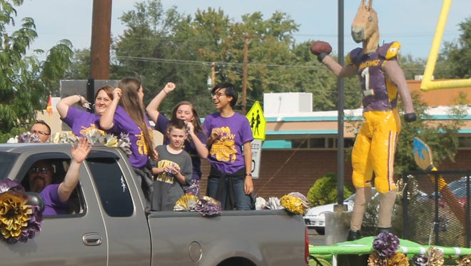 The WNMU Art Club made a paper mache Mustang Football player for Saturday's homecoming parade.