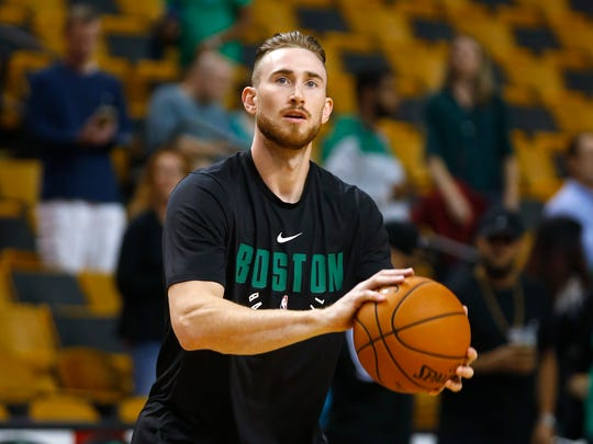 Boston Celtics' Gordon Hayward missed all but a few
