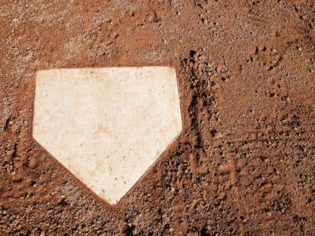 Base on Baseball Diamond