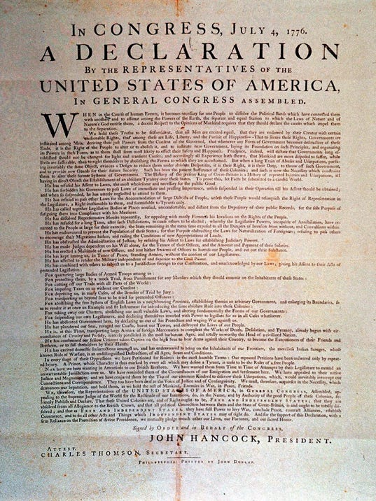 an analysis of the concept of the american dream and the declaration of independence