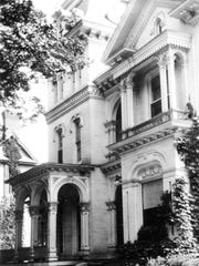 A 1950s photograph of the Richardson-Kennedy House on West Church Street in Elmira.