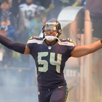 The Seattle Seahawks agreed with middle linebacker