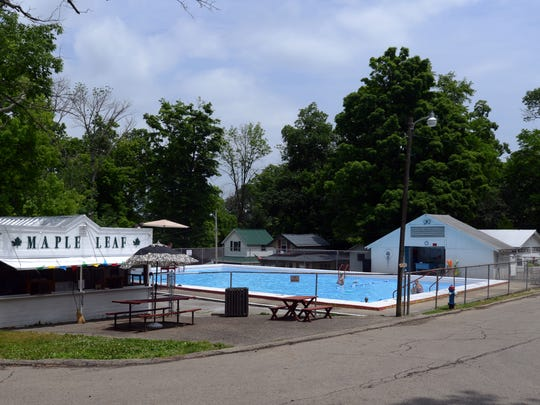 The Maple Leaf snack bar, left, sits next to the Copeland Swimming Pool Wednesday, June 15, 2016, at the Lancaster Camp Ground.