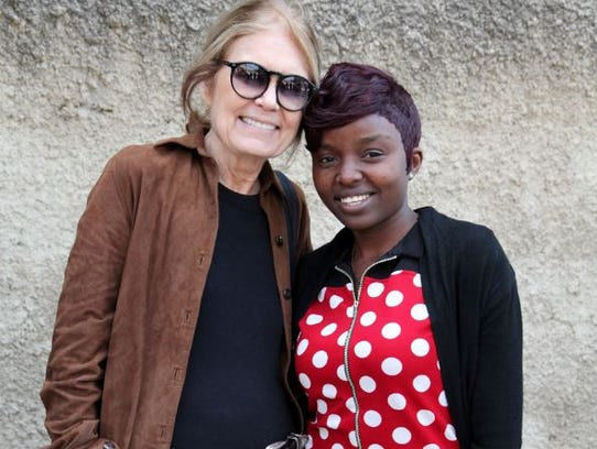 Steinem and Saisha met in Zambia.