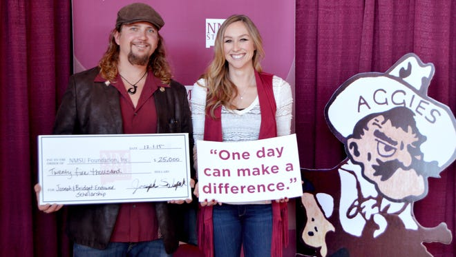 Joseph and Bridget Salopek, both alumni of New Mexico State University, established a $25,000 endowed scholarship during last year's GivingTuesday event at NMSU. NMSU will hold its second-annual GivingTuesday event on Nov. 29.