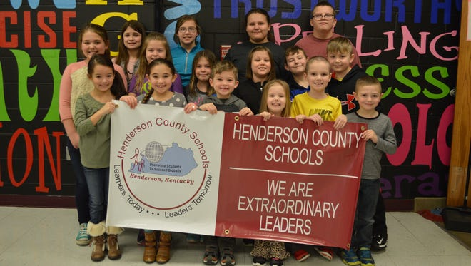 Niagara Elementary January's leaders of the month are, front row from left: Adalyn O'Nan, Harper Todd, Paxton London, Anna McClure, Tucker Hurt and Eli Clement. Middle row: Mattie Winstead, Paige St. Pierre, Juliana Agilar, Abbigail Davis, Jesse Hughes and Urijah Young. Back row: Jessie Latimer, Ava Denton, Joni Bentley and Jeremy Bentley.