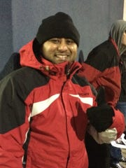 Tushar Ghatol of Neenah was first in line at Best Buy in Grand Chute.