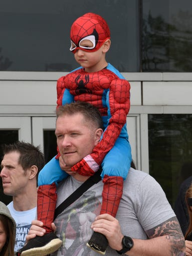 Nick Kallas with his 4-year-old son Nicholas (Spider-Man)
