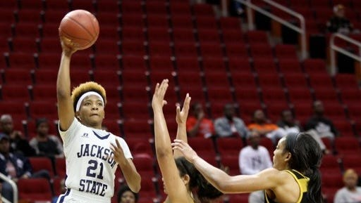 Guard Derica Wiggins (21) was named to the preseason All-SWAC women's basketball second team, the conference announced Wednesday morning.