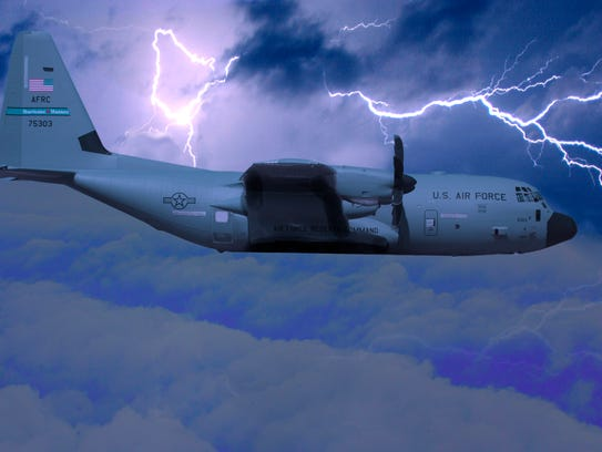 The massive C-130 used by the Air Force's Hurricane