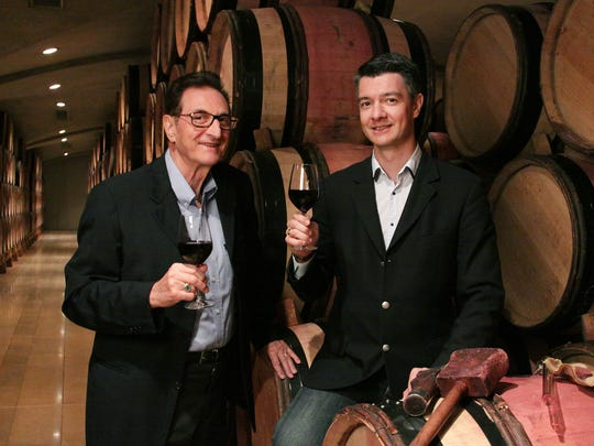 The father-and-son team of Marcel and Philippe Guigal relish the work at the family winery in France.