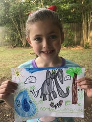Caroline O'Neal, 6 of Monroe, Louisiana, won a prize