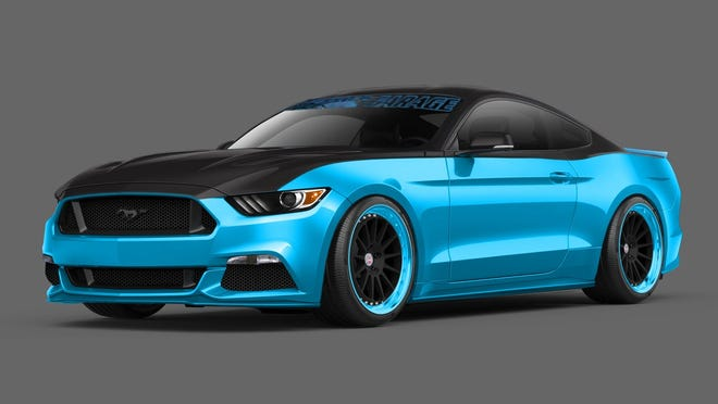 NASCAR giant Richard Petty's tuning shop offers a Mustang bearing the King's signature, his blue paint scheme, number 43 and a V8 supercharged by fellow NASCAR giant Jack Roush. It will be revealed at the SEMA show in November.