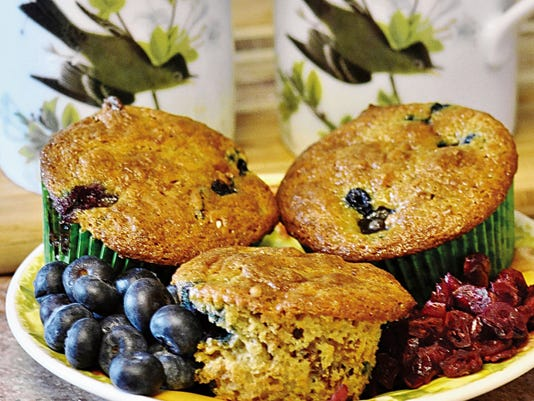 The Happy Baker's very berry breakfast muffins.