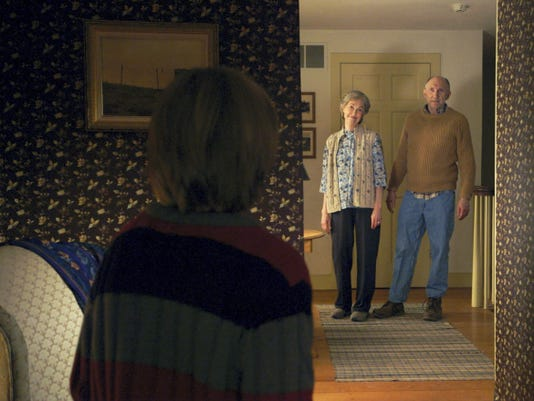 """Deanna Dunagan, background left, and Peter McRobbie appear in """"The Visit."""""""
