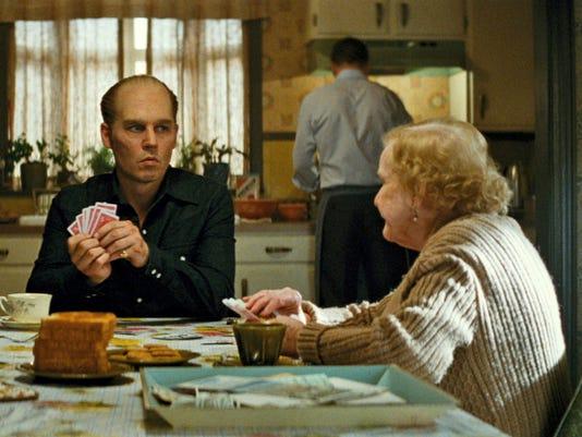 "Johnny Depp portrays ""Whitey"" Bulger in ""Black Mass."""