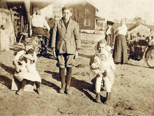 Mystery solved: This image, which appeared on Sept. 29, 2015, in the History Mystery column has been positively identified by Joanna Guldin-Noll. It was Adam Brandt's farm, off of Kenbrook Road in Lebanon, probably taken around 1915-1925.  The property has belonged to Joanna's family for generations, and the farm currently belongs to her parents, Joel and MaryAnn Guldin. The barn in the photo is no longer there, but the family still has in their possession the knife sharpener in the photo.