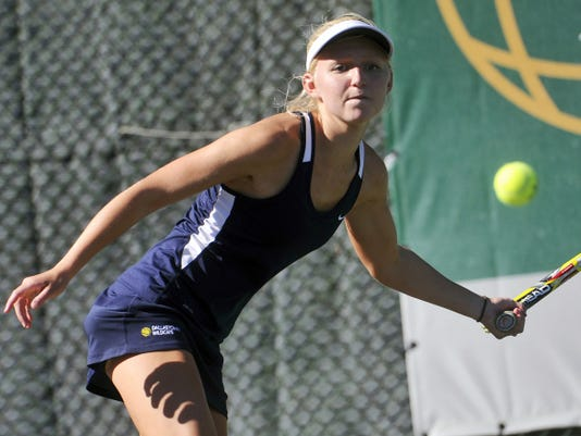 Dallastown's Christie Friedrich defeated Red Lion's Kristina Snyder at No. 1 singles during the Wildcats' 7-0 victory on Monday.