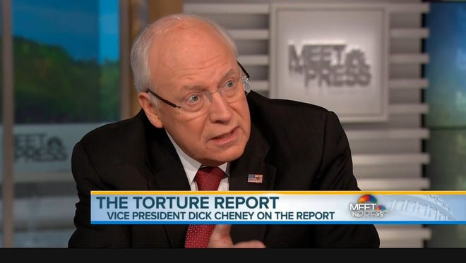 Former vice president Dick Cheney on Sunday.