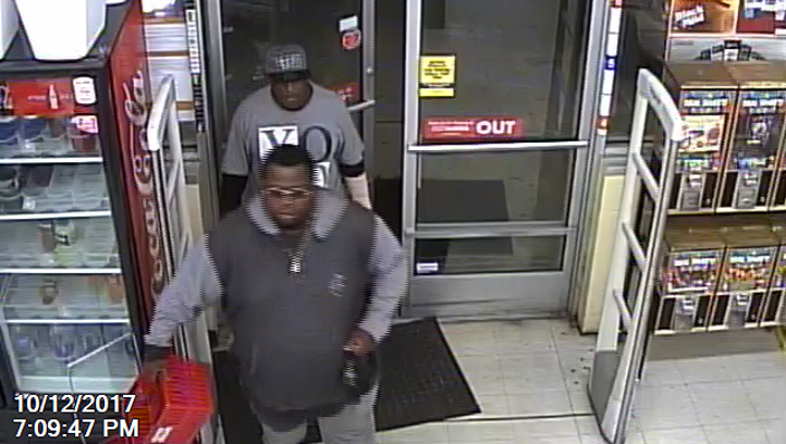 Romulus Police seek men in George Foreman grill theft