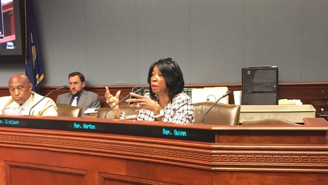 State Rep. Barbara Norton, D-Shreveport, asks questions during a House Transportation Committee hearing Monday.