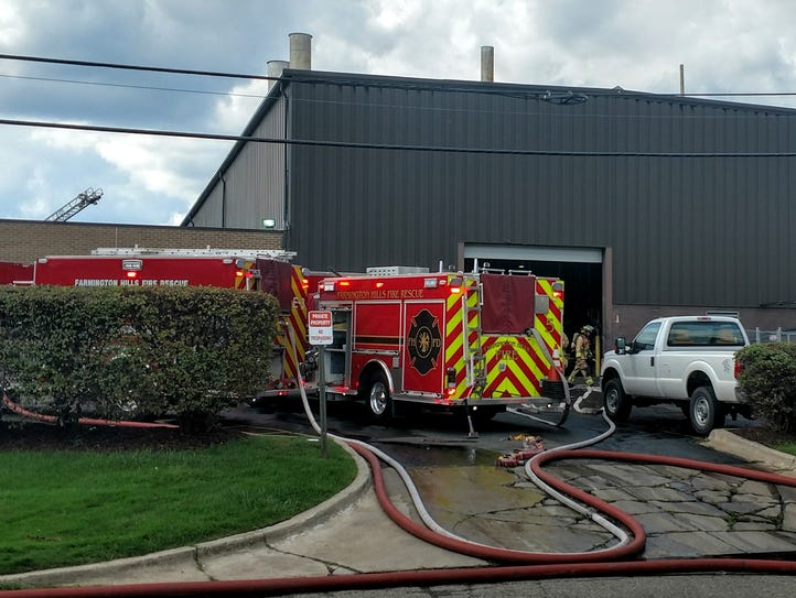 Farmington Hills firefighters arrived at Specialty