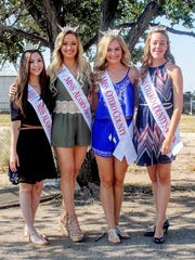 From left to right: Miss Alamogordo Outstanding Teen Dallas Collins, Miss Alamogordo Staesha Gentry, Miss Otero County Ryleigh Murphy and Miss Otero County Outstanding Teen Sage Drake stand for a photo. Each of the girls will go on to compete at the state level in the Miss New Mexico pageant in June 2017.