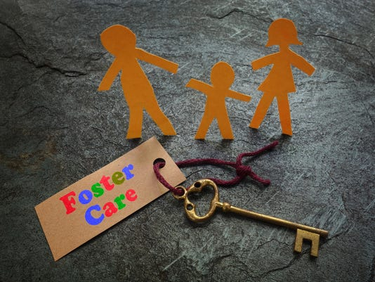 Paper foster care family
