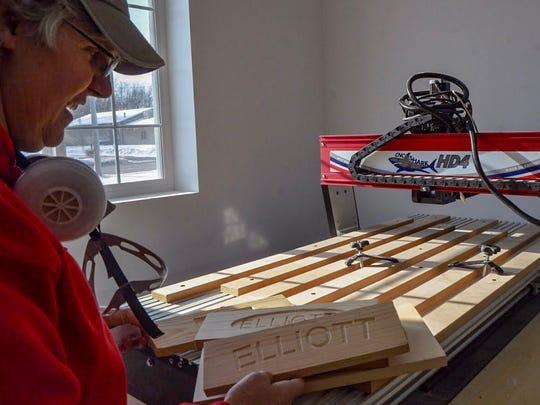 Jeanette Elliott is reopening her store, Elliott's Woodshop, at 1315 Columbia Ave. E.