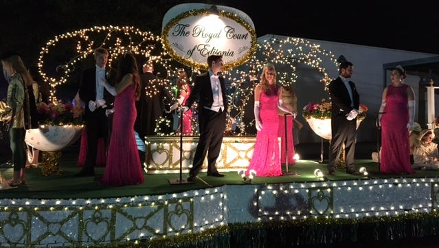 The Royal Court of Edisonia float at the 2017 Edison Festival of Light Grand Parade on February 18.