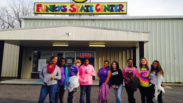 All Girl Conference at Funky Skate Center in Harrisonburg, Virginia. Pictured left is Makeba Robinson, founder and coordinator of AGC.