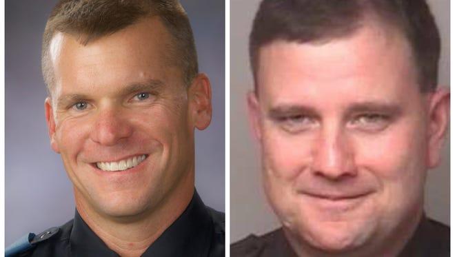 Ingham County sheriff candidates Scott Wriggelsworth (left) and Eric Trojanowicz (right).