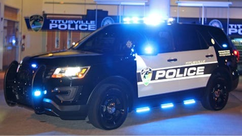 Titusville police sport-utility vehicle