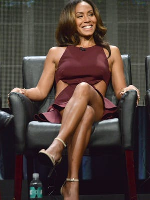 "Jada Pinkett Smith speaks on stage during the ""Gotham"" panel at the The FOX 2014 Summer TCA held at the Beverly Hilton Hotel on Sunday, July 20, 2014, in Beverly Hills, Calif."