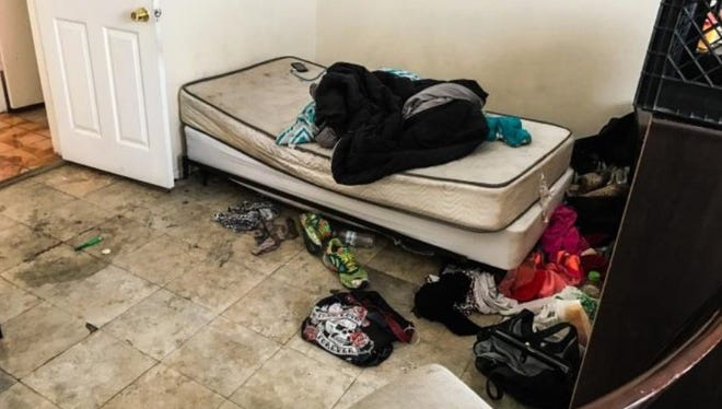 This photo was taken by legislative auditors inspecting the living conditions of the state's mentally ill clients.