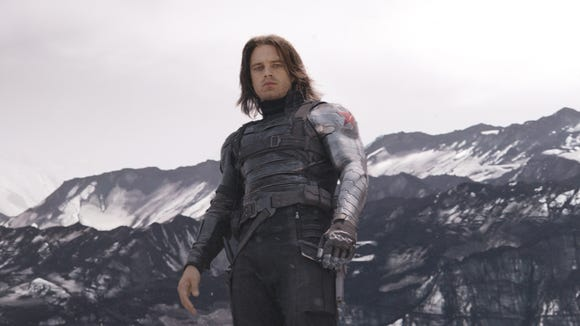 "The Winter Soldier (Sebastian Stan), seen here in ""Captain America: Civil War,"" faces an unknown fate in ""Endgame."""