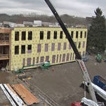 Panel fails during construction of College of Forestry building at Oregon State University