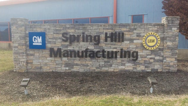 The GM manufacturing plant in Spring Hill employs about 3,300 hourly workers.