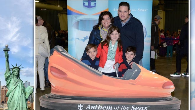The Kurys enjoyed one day of their cruise aboard the Anthem of the Seas before the storm.