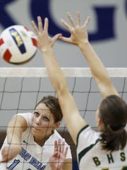 Choteau native Cali Buck was a tremendous spiker while playing for the University of Great Falls.