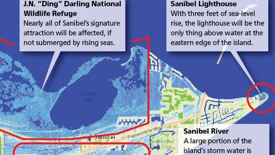 How sea level rise will affect Sanibel Island