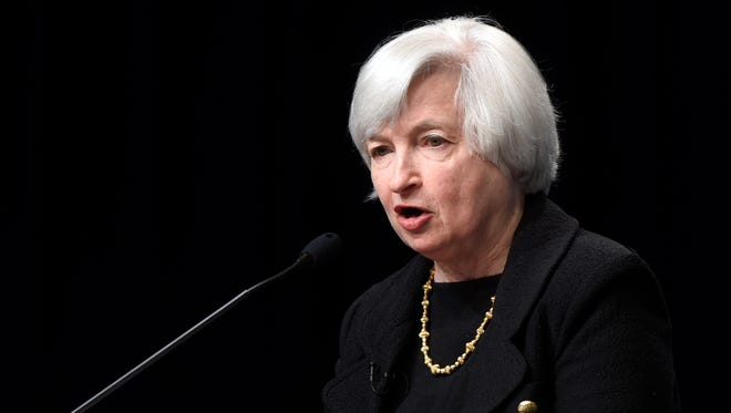 Federal Reserve Chair Janet Yellen speaks at the International Monetary Fund in Washington, Wednesday, July 2, 2014.
