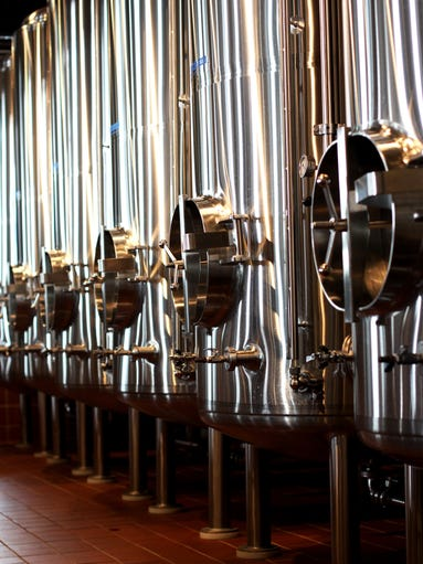 The serving tank cellar at Springfield Brewing Company in this 2010 photo.