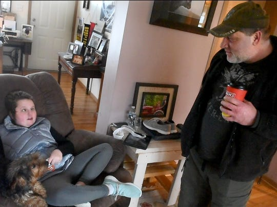 Bill Kohler recently spent time with 12-year-old Kaisy Lynn Knott in the living room of her Mount Airy, Md. home. Kaisy was diagnosed with DIPG, a rare type of brain tumor that took the life of Kohler's son Ayden.