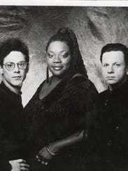 Thornetta Davis with the Chisel Brothers in the early